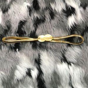 Vintage Gold Leaf Stretch Metal Skinny Fashion
